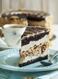 Almond Chocolate Crunch Cake Royalty Free Stock Photos