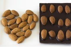 Almond Chocolate Stock Photo