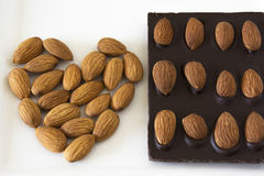 Almond Chocolate Royalty Free Stock Photography
