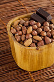 Almond with chocolate Royalty Free Stock Photo