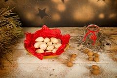 Almond Christmas sweet still life Стоковое фото RF