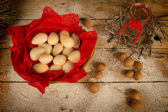 Almond Christmas treat Stock Photography