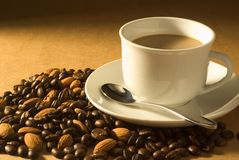 Almond coffee Royalty Free Stock Photos