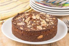 Almond coffee cake Royalty Free Stock Photo