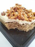 Almond coffee toffee cake Stock Photography