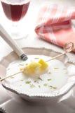 Almond coldd soup Stock Photo