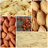 Almond collage Royalty Free Stock Image
