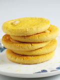 Almond Cookie Stack Stock Images