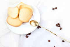 Almond cookies. Homemade almond cookies with a coffee beans Stock Photography