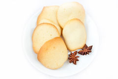 Almond cookies. Homemade almond cookies on a white background Stock Photography