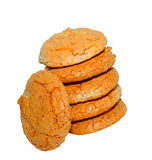 Almond cookies. On a white background Royalty Free Stock Images