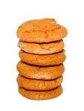 Almond cookies. On a white background Stock Photos