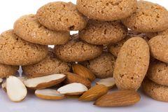 Almond cookies with almonds Stock Images