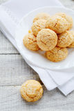 Almond cookies, amarettini Royalty Free Stock Images