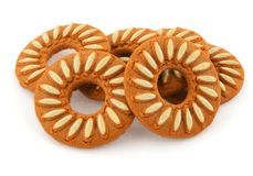 Almond Cookies or Biscuits Stock Images