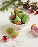 Almond cookies for Christmas Stock Photo