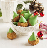Almond cookies for Christmas Stock Images