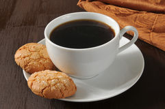 Almond cookies and coffee Royalty Free Stock Image