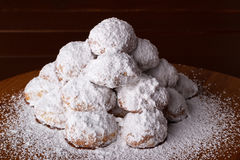 Almond cookies with icing Stock Image