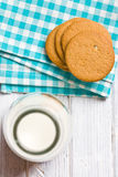 Almond cookies on kitchen table Royalty Free Stock Image