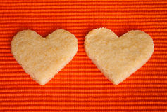 Almond Cookies in Love Stock Photography