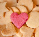 Almond Cookies in Love Stock Image