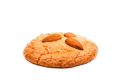 Almond cookies with nuts Stock Images