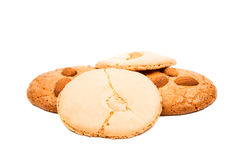 Almond cookies with nuts Royalty Free Stock Photos