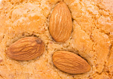 Almond cookies with nuts Stock Photos