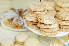 Almond cookies very shallow DOF Stock Image