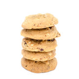 Almond cookies on white background. Almond cookies isolated on white background Royalty Free Stock Images