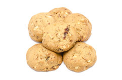 Almond cookies on white background. Almond cookies isolated on white background Stock Photo