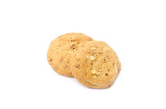 Almond cookies on white background. Almond cookies isolated on white background Royalty Free Stock Image