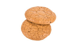 Almond cookies on a white background Stock Photography