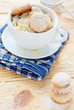 Almond cookies in a white cup Stock Photos
