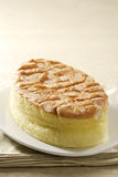Almond cotton cake stock image