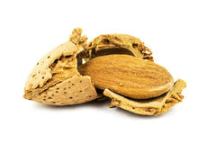 Almond with cracked nutshell Royalty Free Stock Photography