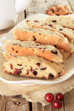 Almond and cranberry biscotti Royalty Free Stock Image