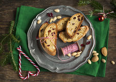 Almond and cranberry biscotti Royalty Free Stock Images
