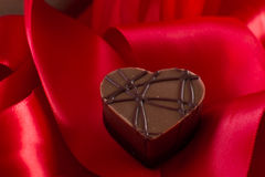 Almond cream heart shaped chocolate Stock Photography