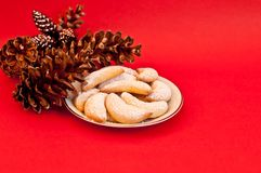 Almond Crescents Stock Photography
