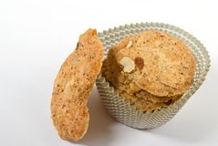 Almond crisps cookies Royalty Free Stock Photos