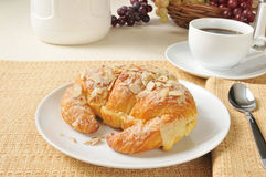 Almond croissant Royalty Free Stock Photography