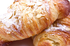 Almond croissant Stock Images
