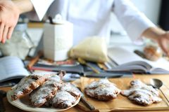 Almond croissants Royalty Free Stock Image