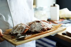Almond croissants Royalty Free Stock Photography