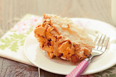 Almond crunch cake with fork Stock Photo