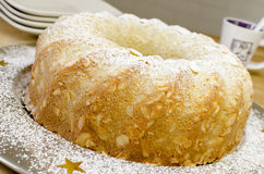 Almond crusted butter cake Royalty Free Stock Photography