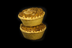 Almond cup cake on black background Royalty Free Stock Image