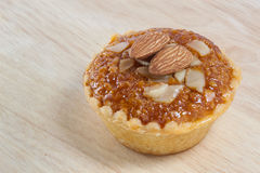 Almond cup cake Stock Photography